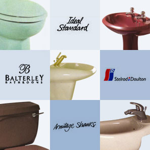 Discontinued Bathrooms and Equipment by Armitage Shanks Royal Doulton Shires Ideal Standard  Balterley Johnson Bros Trent, Sanitan Jacob Delafon Villeroy and Boch Imperial Vernon Tutbury Twyfords Qualitas Lecico Spring Ram Kaldewei  Heritage